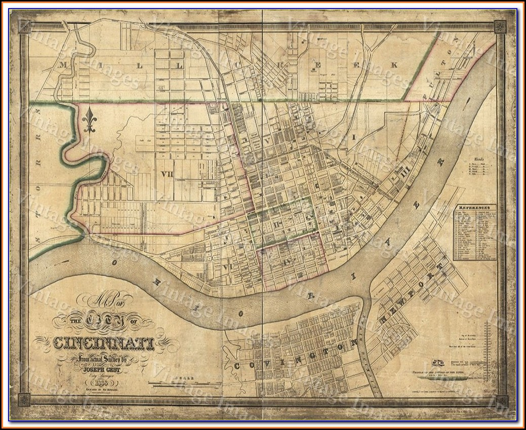 Old Maps Of Cincinnati Ohio