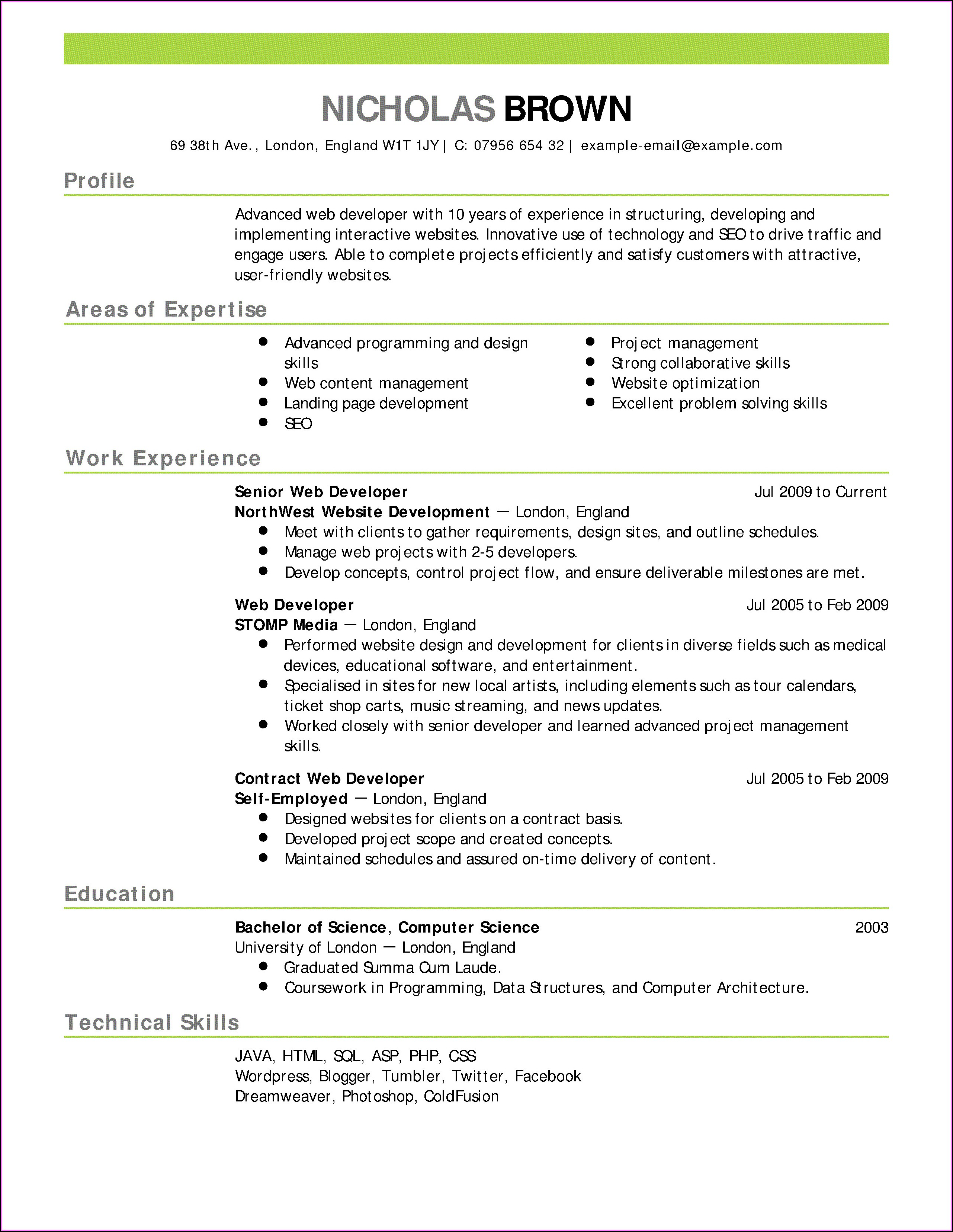 Online Resume Builder For Experienced Free Download