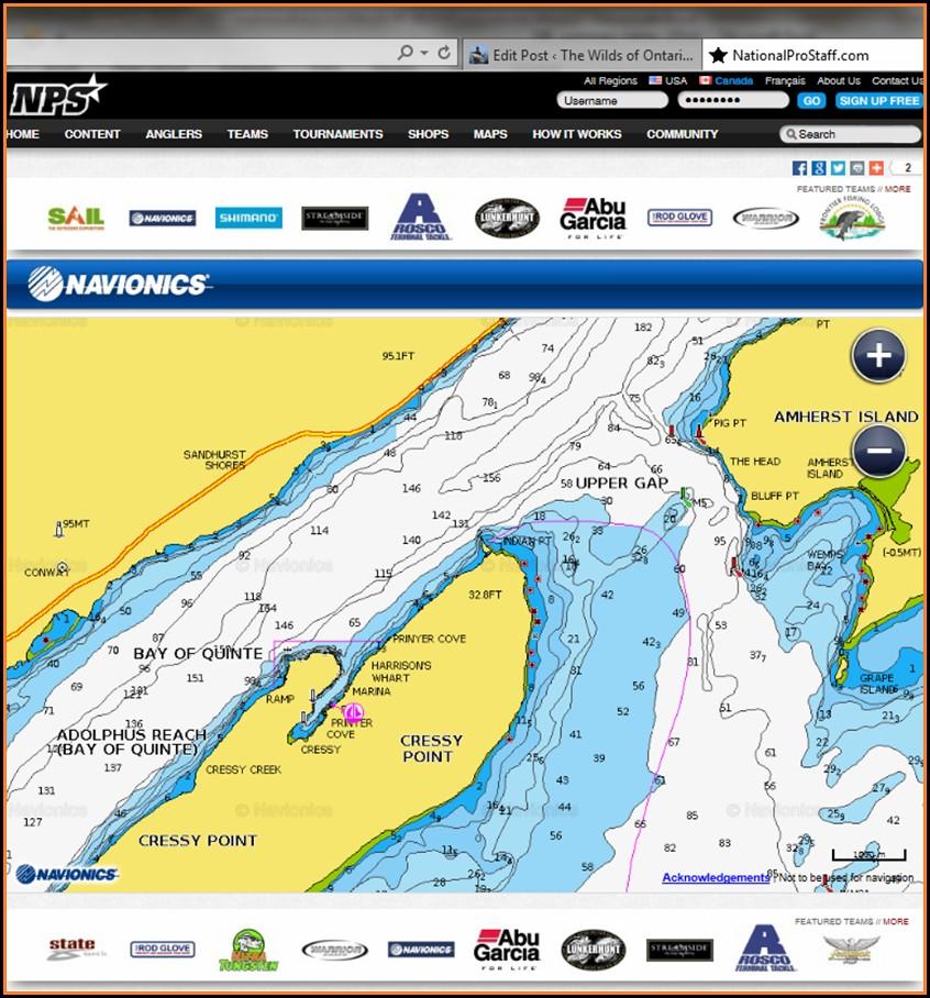 Ontario Lake Depth Maps