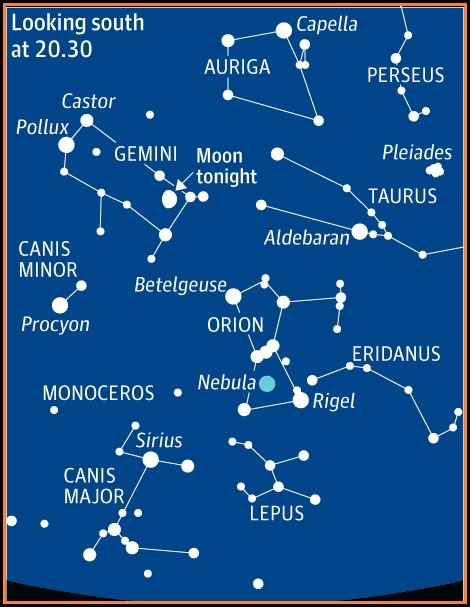 Orion's Belt Constellation Map