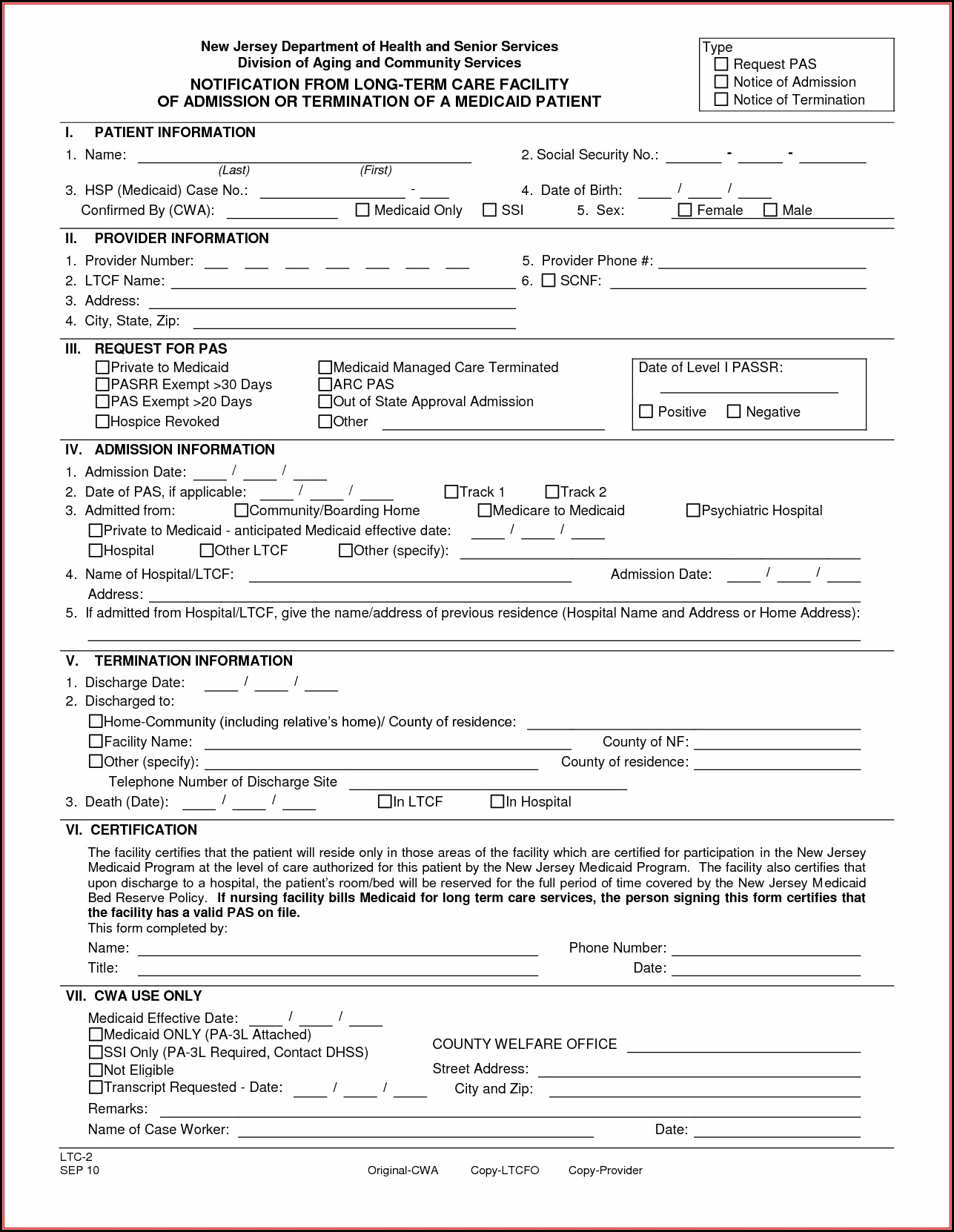 Patient Discharge Form Template