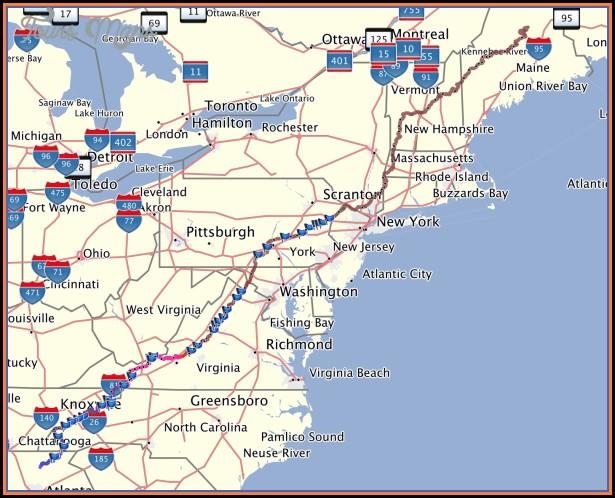 Pennsylvania Appalachian Trail Map