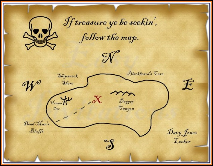 Pirate Map Template To Print