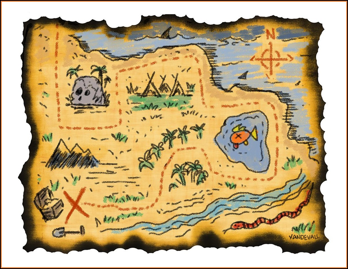 Pirate Treasure Maps To Print