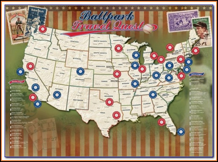 Printable Map Of Mlb Ballparks