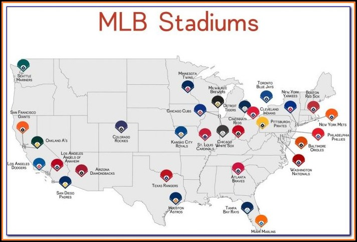 Printable Map Of Mlb Stadiums