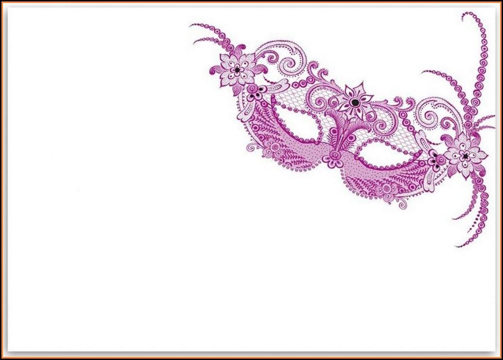 Printable Masquerade Party Invitations Templates