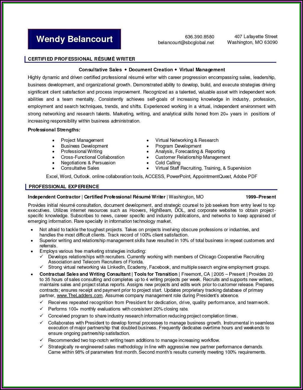 Professional Resume Writers In Monmouth County Nj