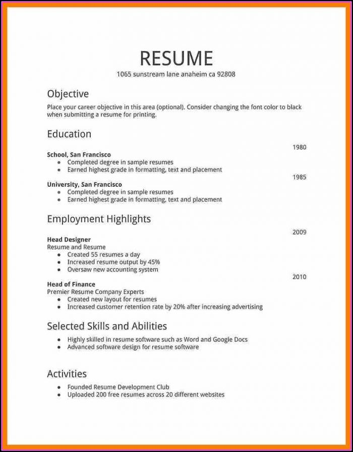Professionally Done Resumes