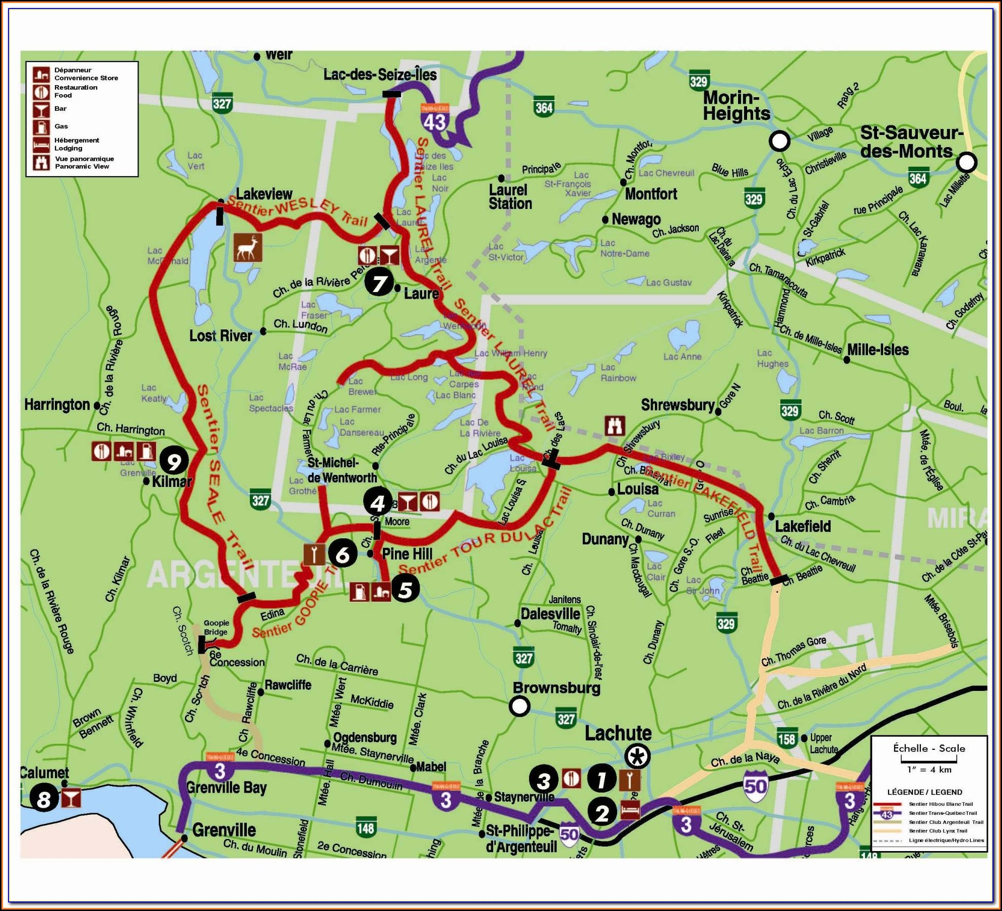 Quebec Snowmobile Trail Maps