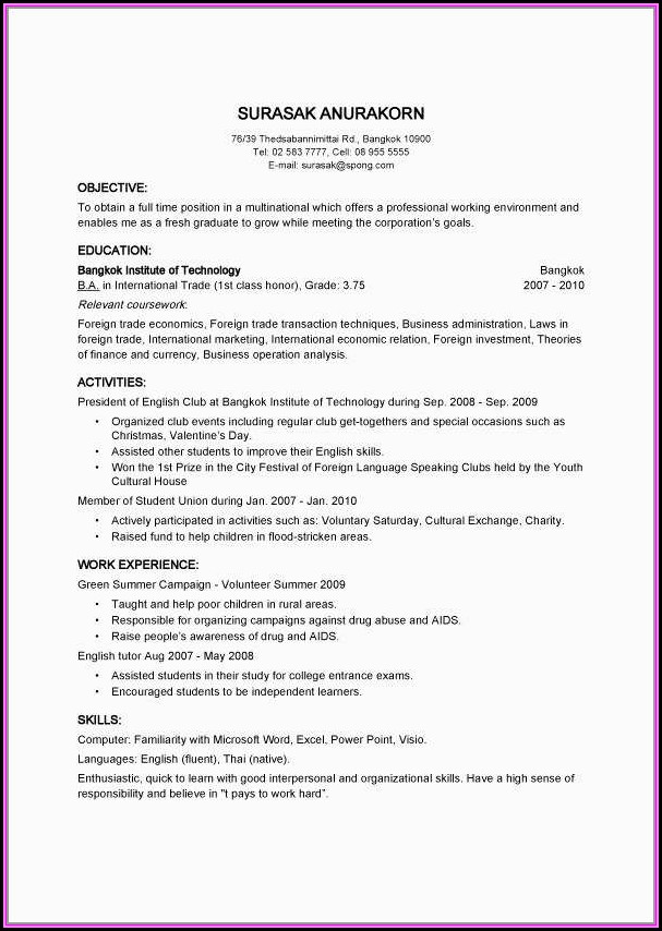 quick resume maker free