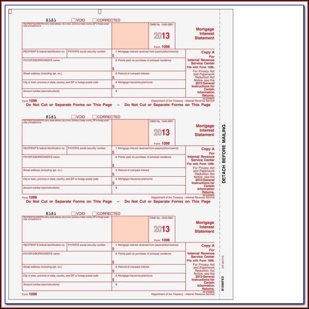Quickbooks Compatible 1099 Forms
