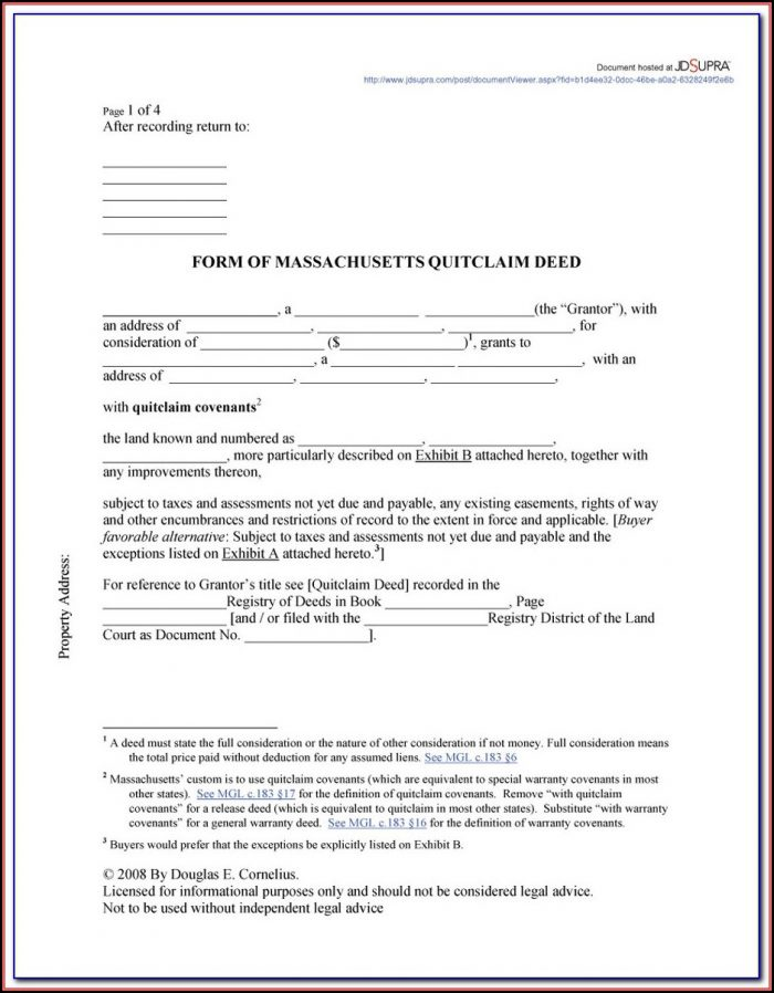 Quit Claim Deed Florida Form Volusia County