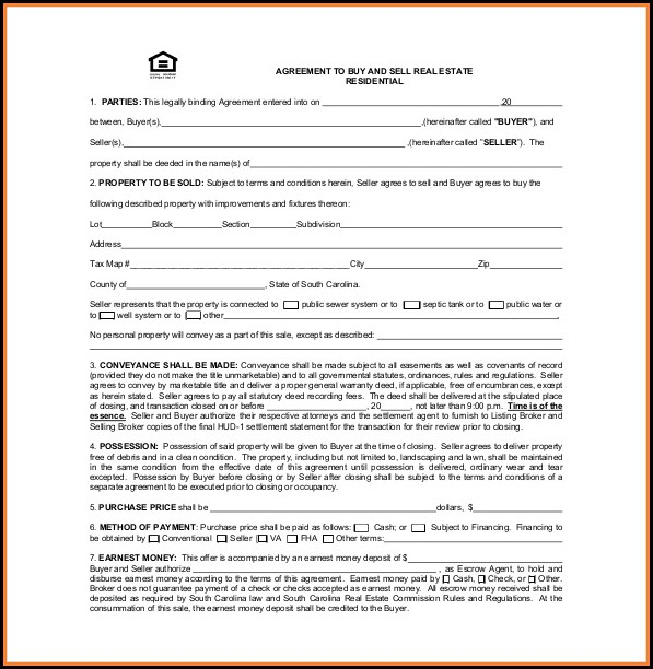 Real Estate Buy Sell Agreement Template