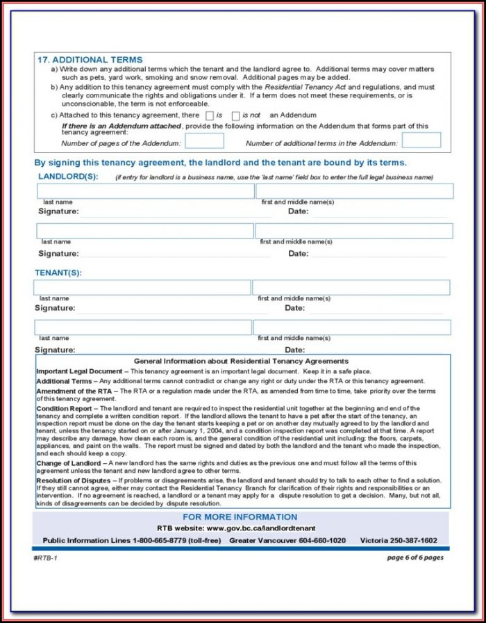 Rental Tenancy Forms