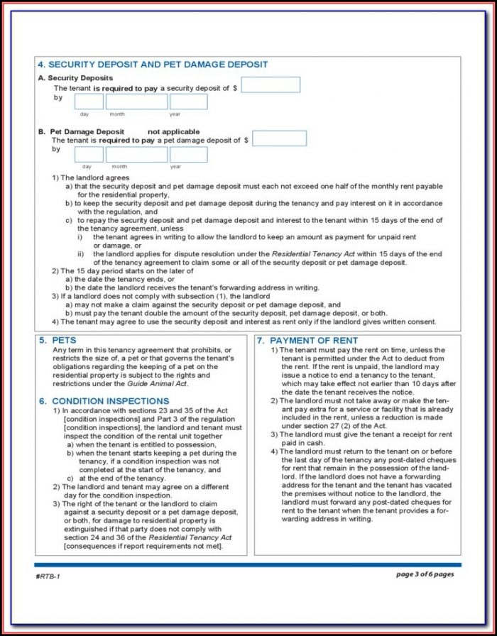 Rental Tenancy Forms Sa