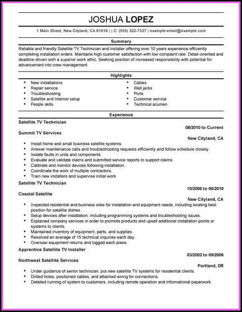 Resume Example For Customer Service Skills