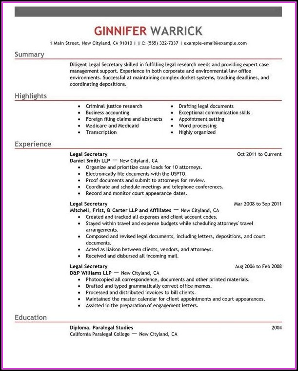 Resume Examples For Banking