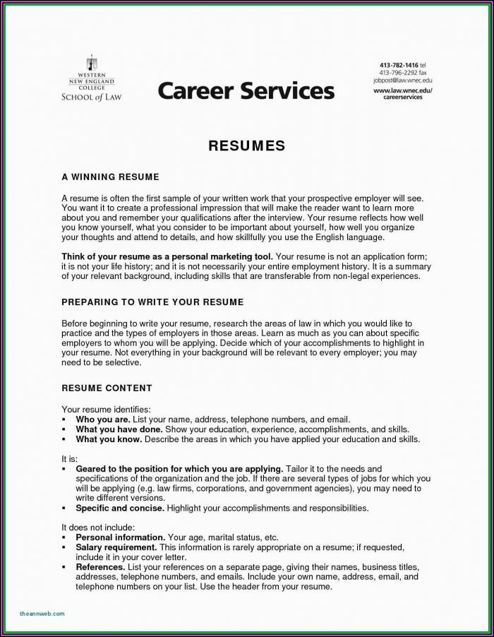 Resume Format For Cna Job