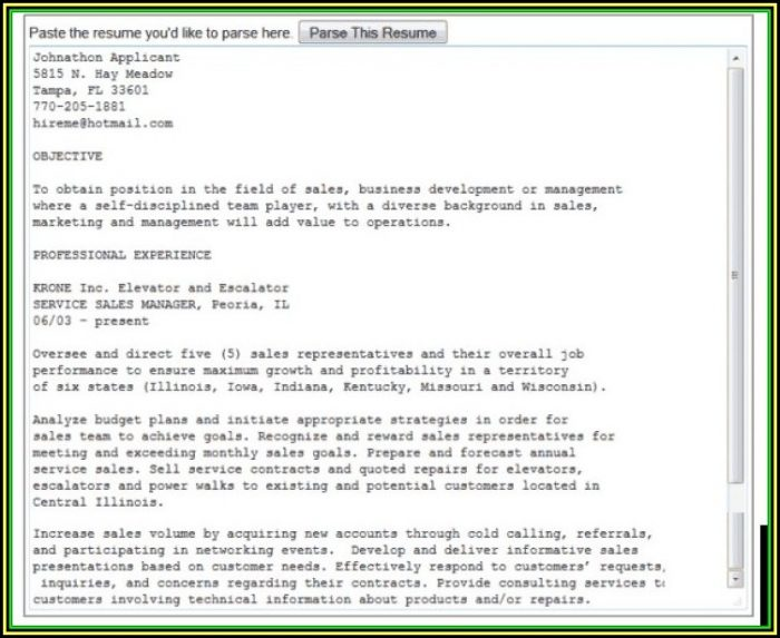 Resume Parser Free Download