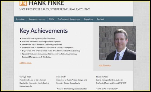 Resume Portfolio Website Examples