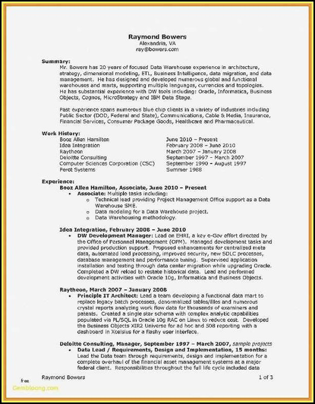 Resume Samples For Banking Sector