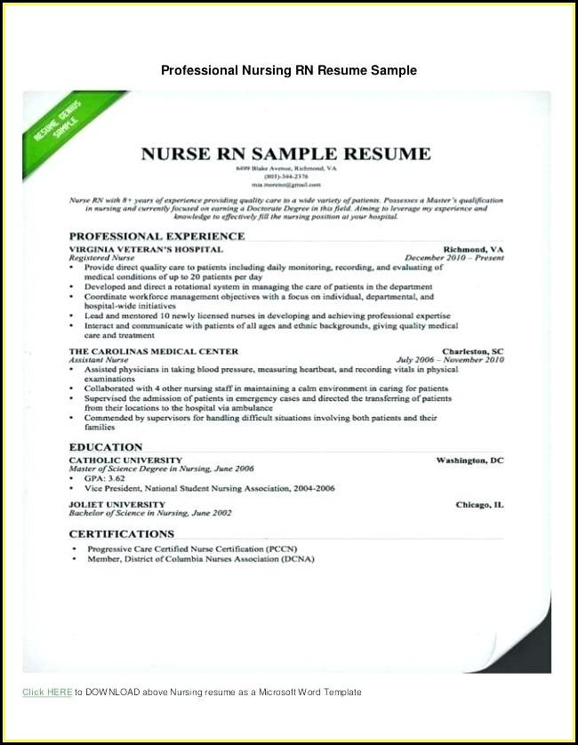 Resume Samples For Nurses