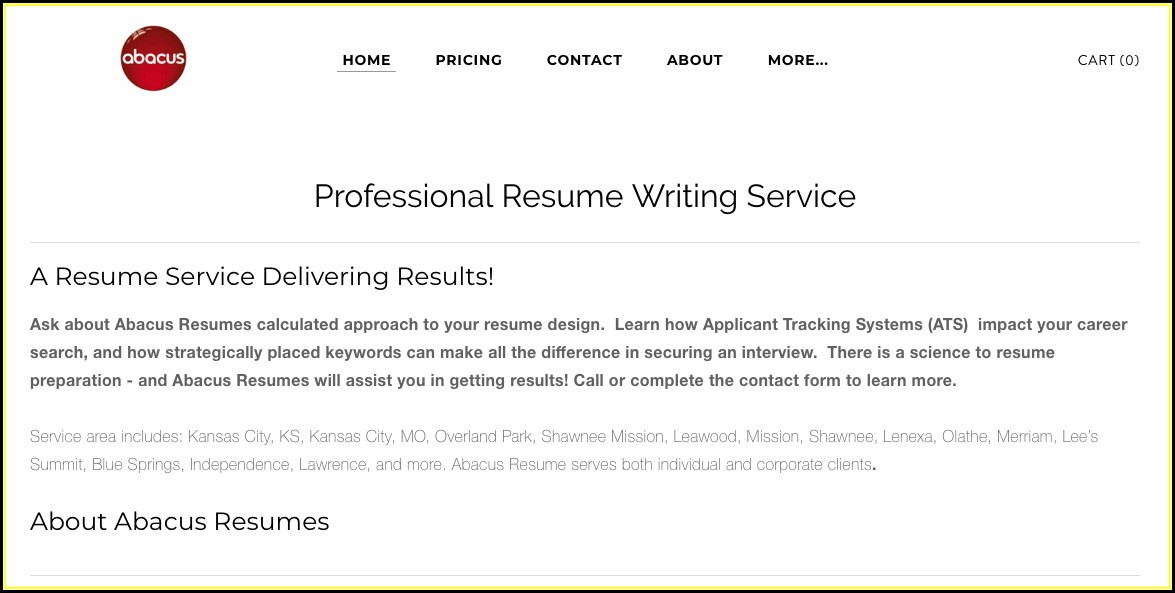 Resume Writing Services Kansas City