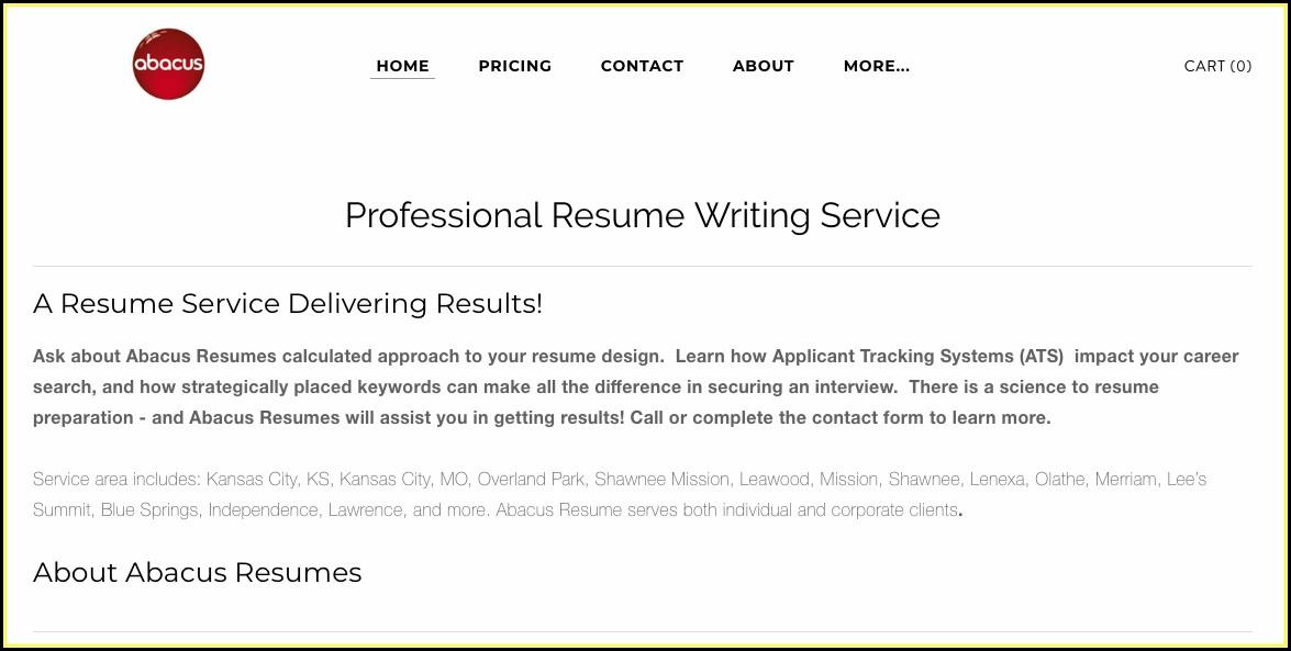 Resume Writing Services Kansas City