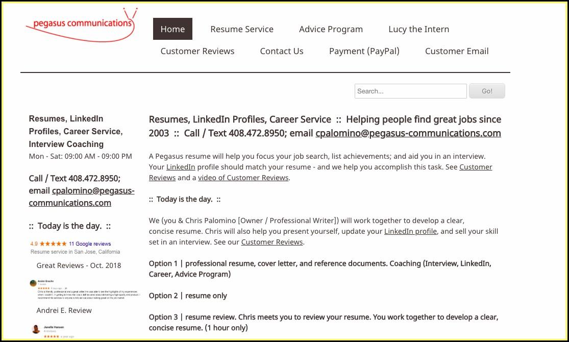 Resume Writing Services San Jose Ca