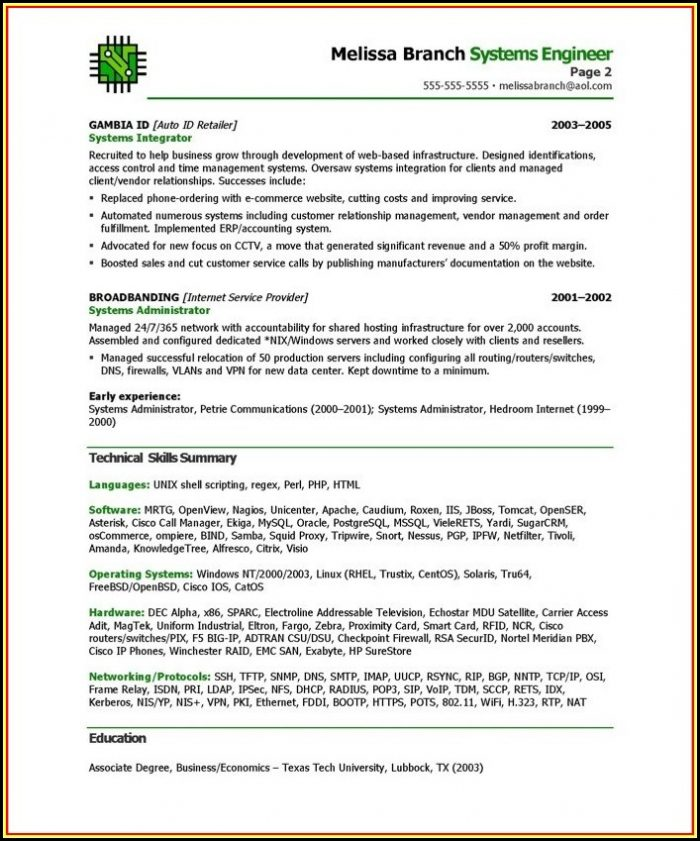 Resume Writing Templates Word