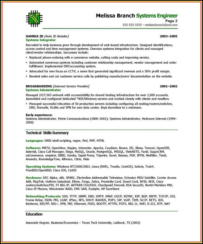 Resume Writing Templates Word