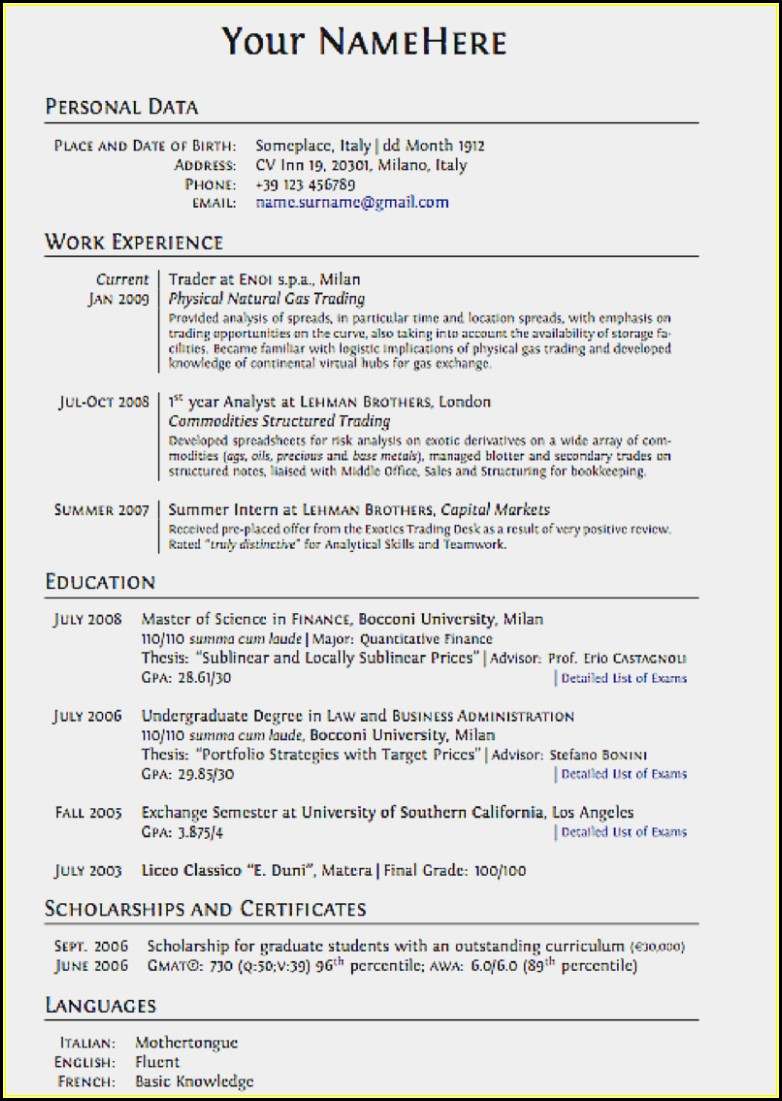 Resume Writing Tips Pdf