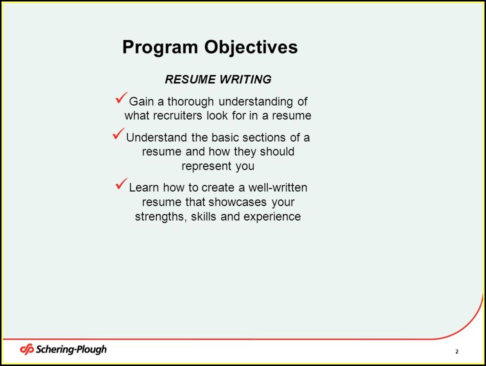 Resume Writing Training Ppt