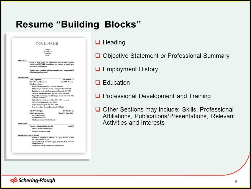 Resume Writing Training Programs