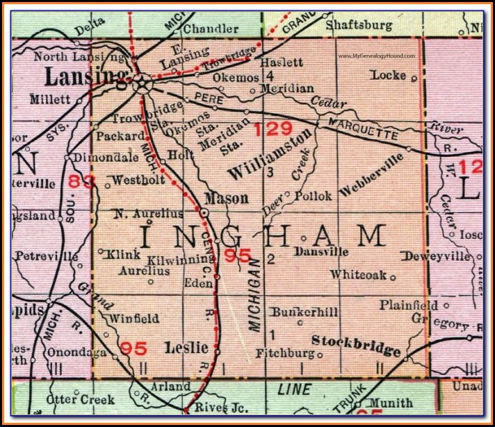 road-map-of-ingham-county-michigan Job Application Forms In Belize City on blank generic, part time, free generic,