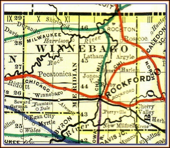 Road Map Of Winnebago County Il