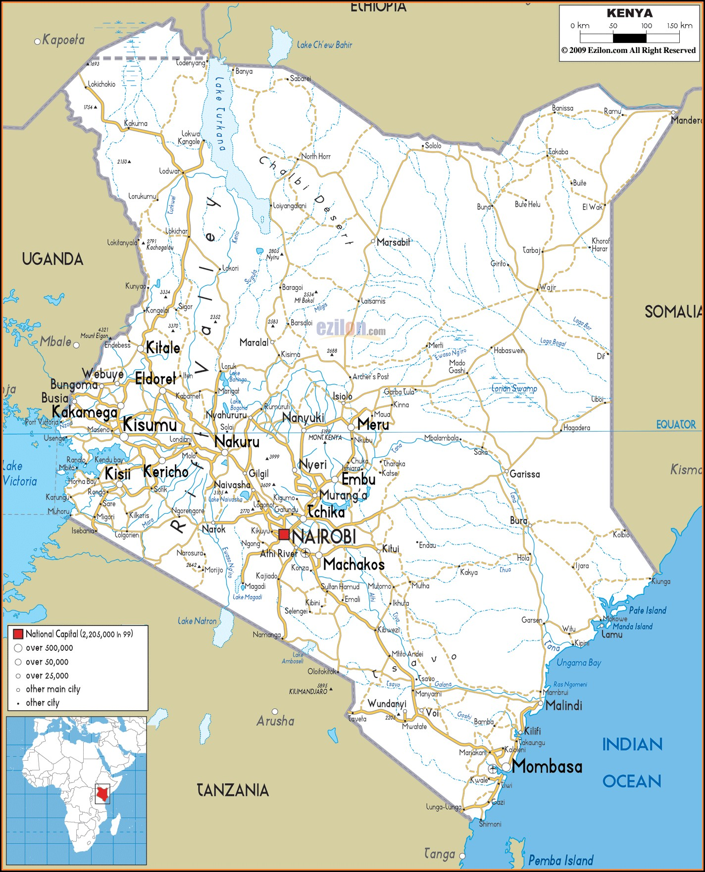 Road Maps Kenya