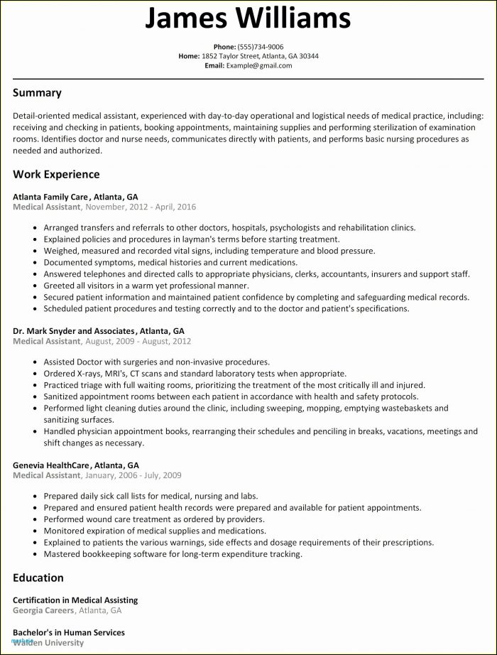 Sample Medical Billing Resume Templates