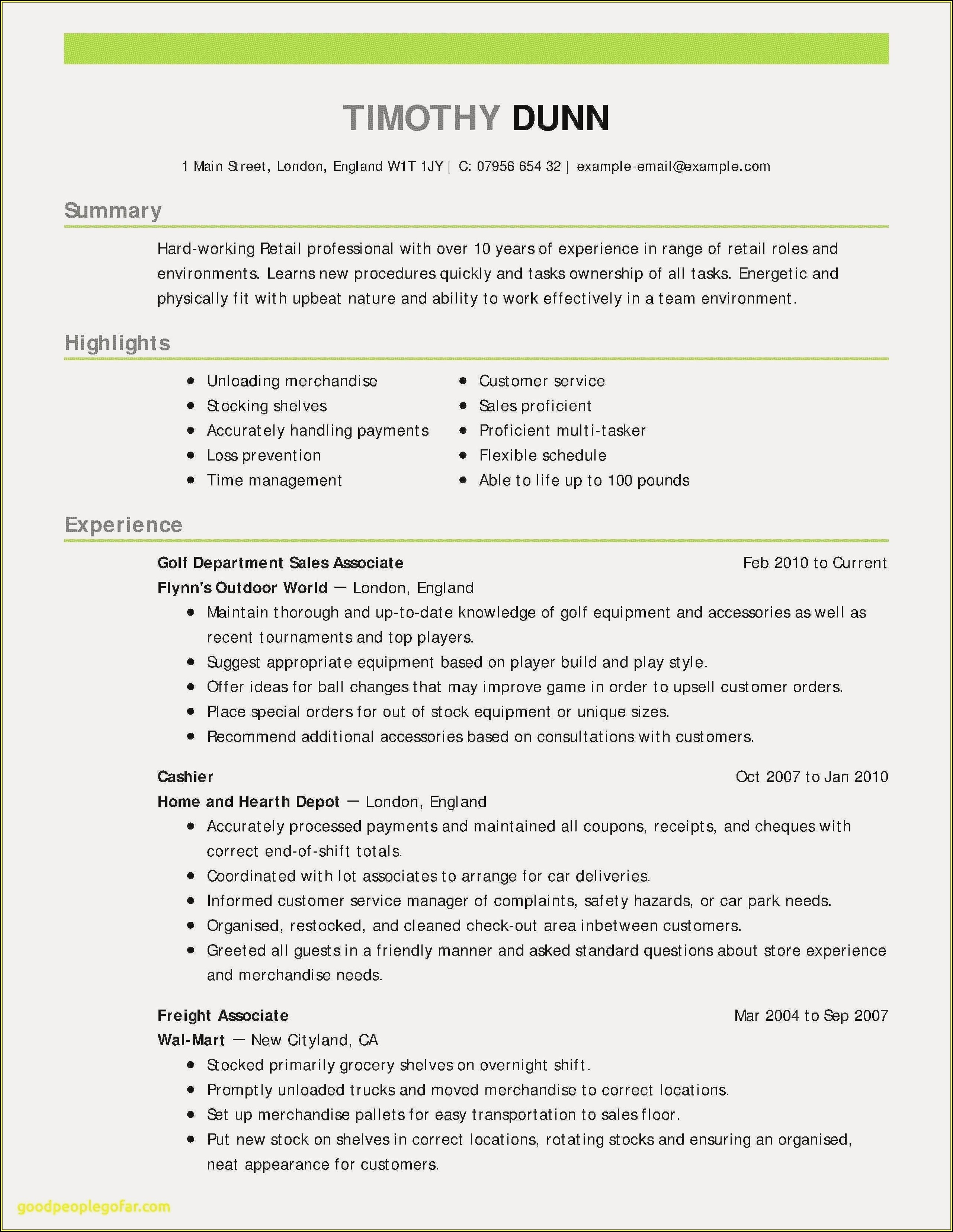 Sample Resume For Customer Service Jobs