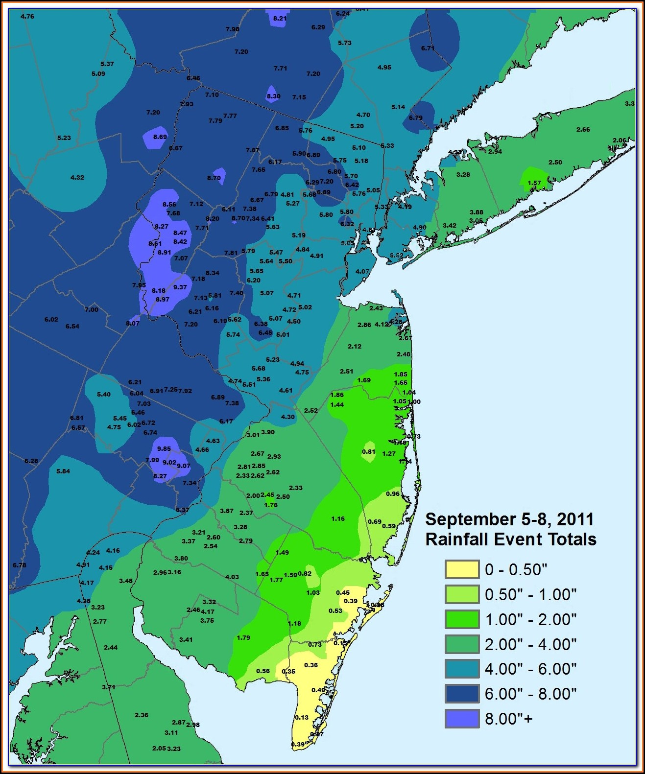 Sandy Flood Map Nj