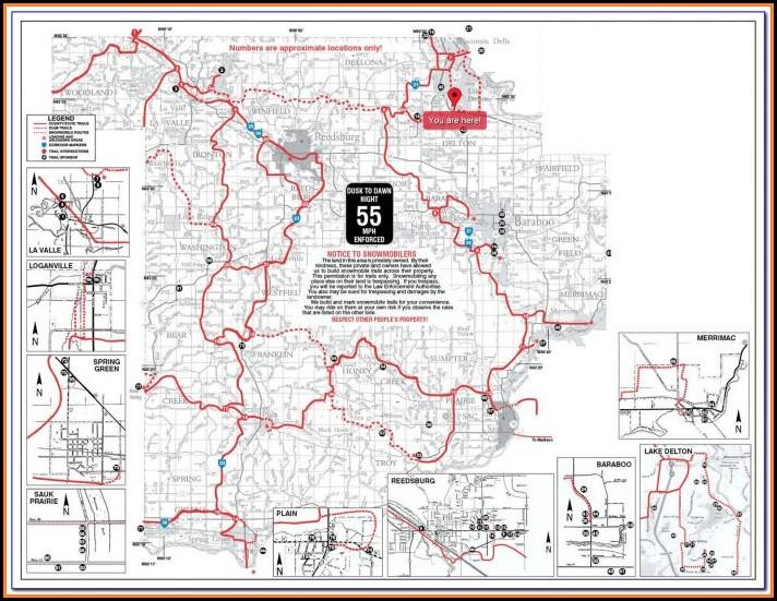 Snowmobile Trail Map Douglas County Wisconsin