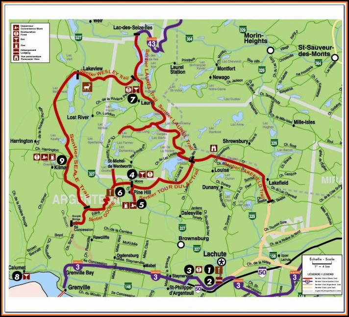 Snowmobile Trail Map Minocqua Wi