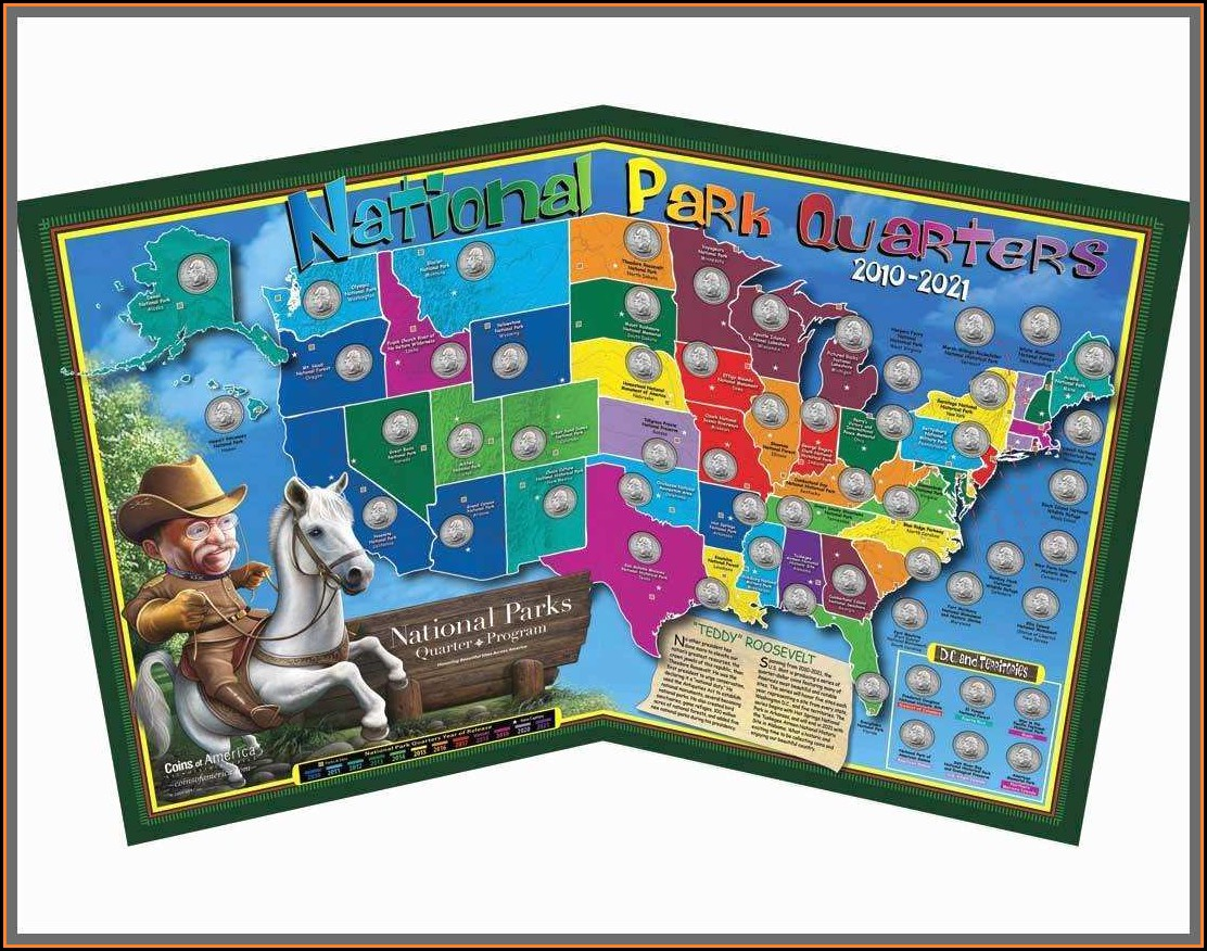 State Series Quarters Collector Map Walmart