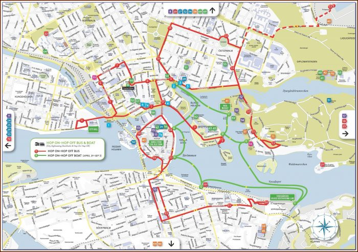 Stockholm Hop On Hop Off Bus And Boat Map