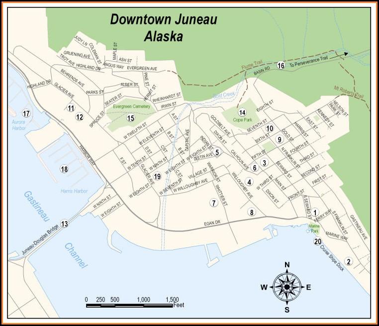 Street Map Juneau Alaska