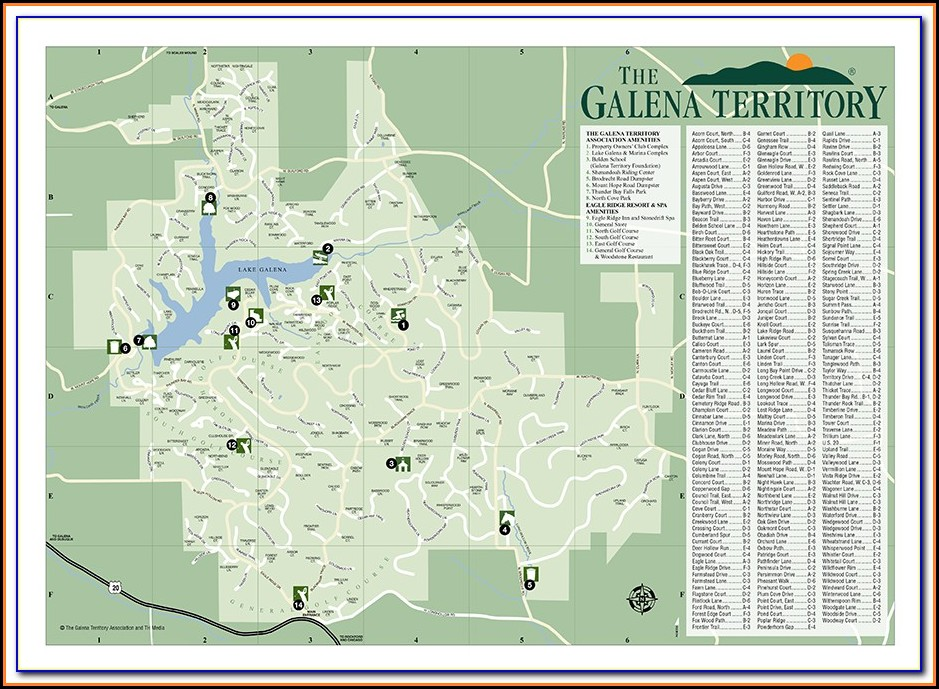 Street Map Of Galena Illinois