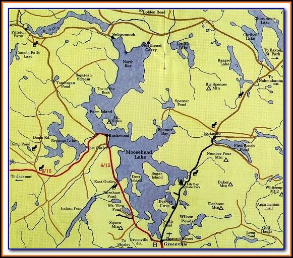 Topo Map Moosehead Lake Maine