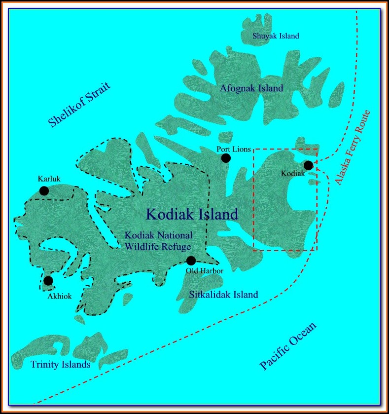 Topo Map Of Kodiak Island