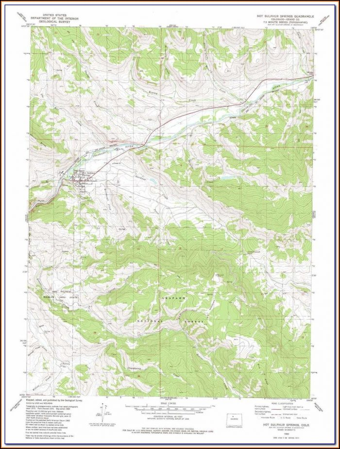 Topo Maps Colorado Hunting Units
